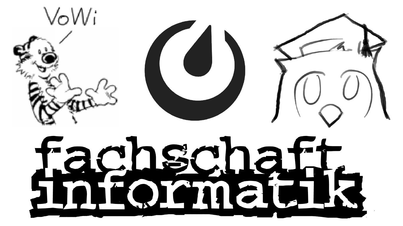 Logo mit vowi-Tiger, EsTut-Eule, Mattermost und FsInf-Schriftzug